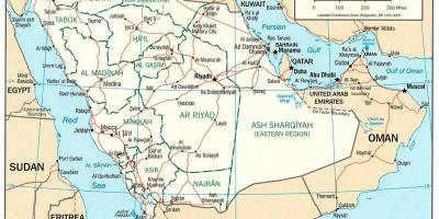 Asia Politica Cartina.Arabia Saudita Ksa Mappa Mappe Arabia Saudita Ksa